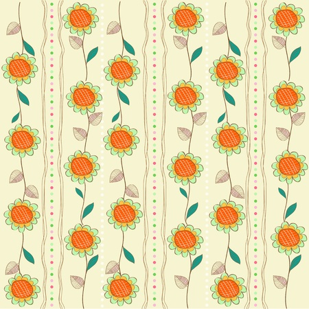 old wallpaper: seamless pattern background with flowers