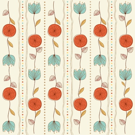 heart pattern: seamless pattern background with flowers