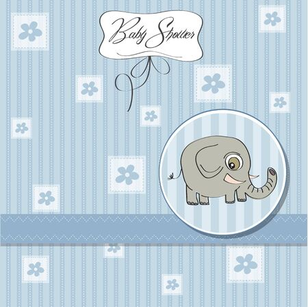specifically: funny baby announcement card  Illustration
