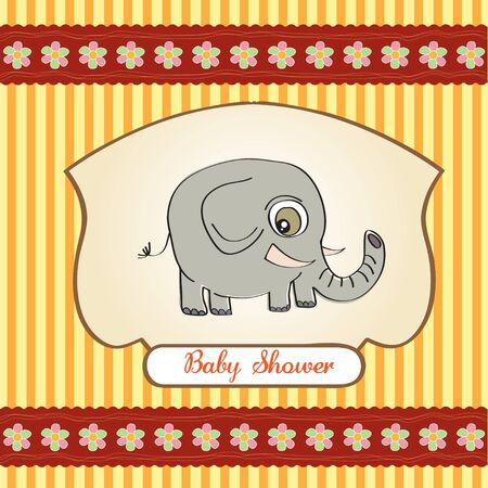 funny baby announcement card  Vector