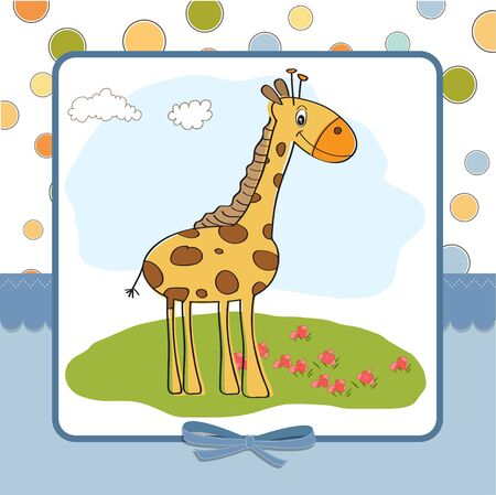 greeting card with giraffe Stock Vector - 12810275