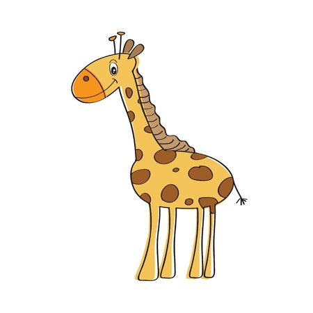 lonely vector giraffe isolated on white background Stock Vector - 12810261