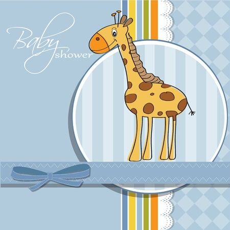 new baby shower card with giraffe Stock Vector - 12810279