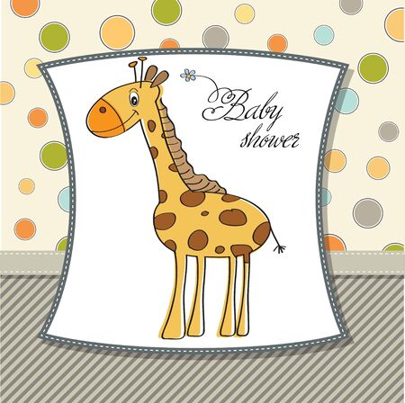 new baby shower card with giraffe  Vector