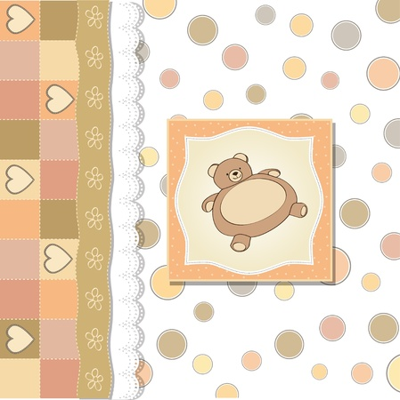 baby shower card with teddy Stock Vector - 12810339