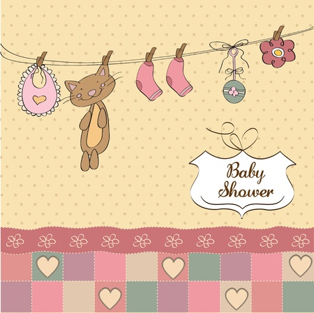 Baby shower invitation card  Stock Vector - 12810297