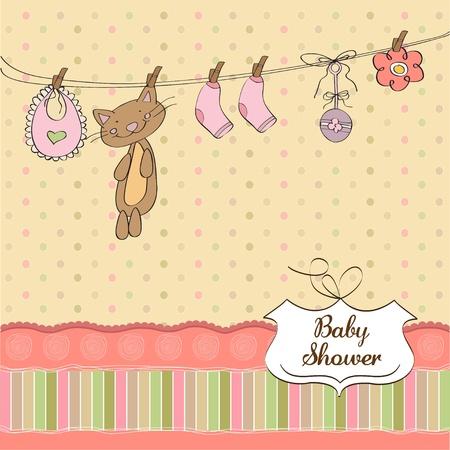 child birth: Baby shower invitation card