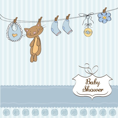 Baby shower invitation card Stock Vector - 12810313
