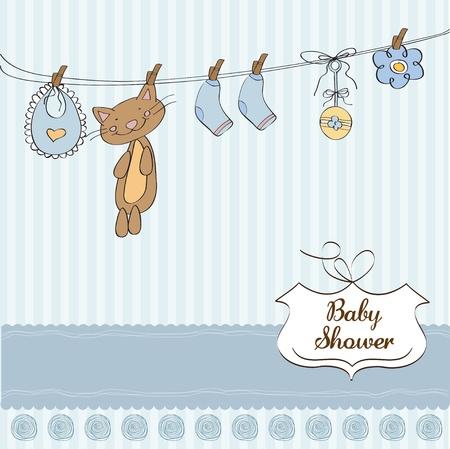 Baby shower invitation card Stock Vector - 12810313