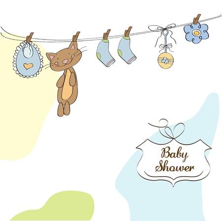 Baby shower invitation card Stock Vector - 12810289