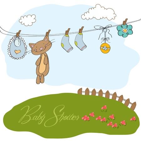 Baby shower invitation card Stock Vector - 12810262
