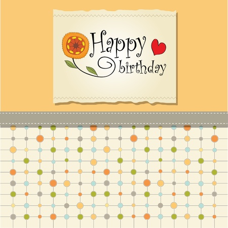 birhday card template Stock Vector - 12816193