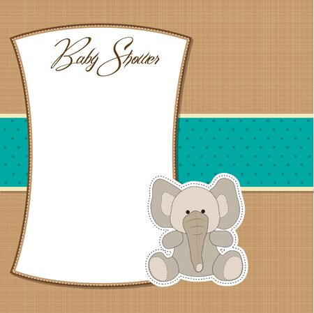 specifically: romantic baby announcement card