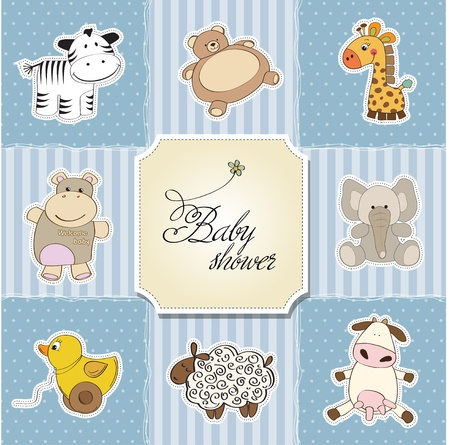 baby shower card template  vector illustration Stock Vector - 12816252