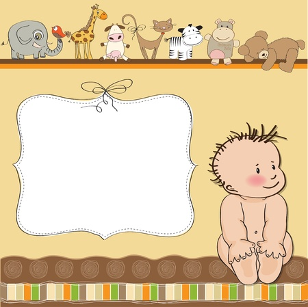 baby shower card Stock Vector - 12816210
