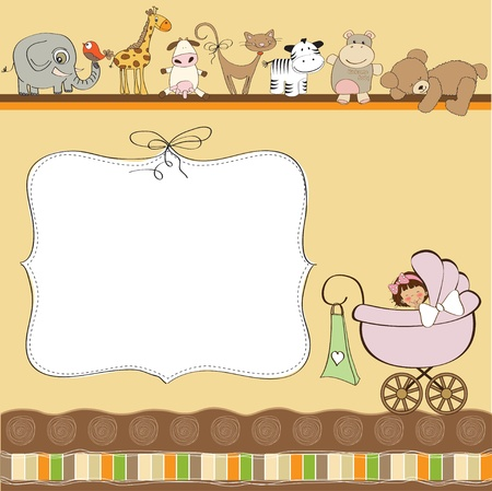 baby shower card Stock Vector - 12816223