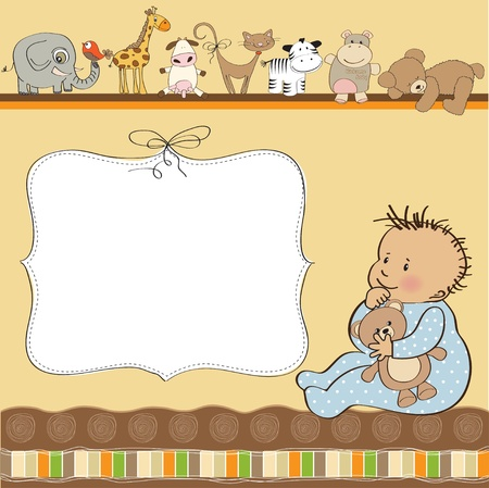 baby shower card Stock Vector - 12816213