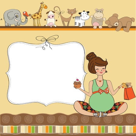 baby shower card Stock Vector - 12816240