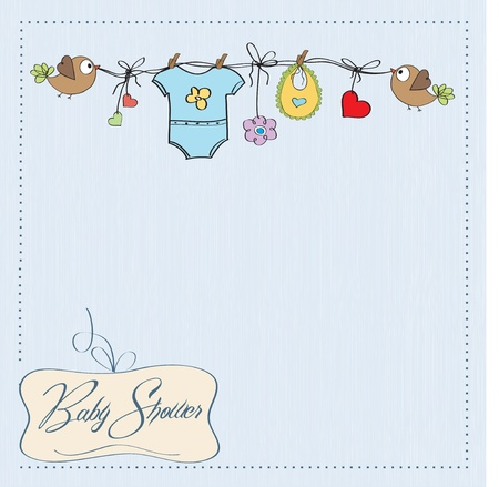 birth announcement: baby boy shower card