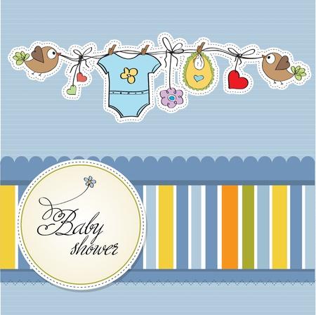 sweet background: baby boy shower card