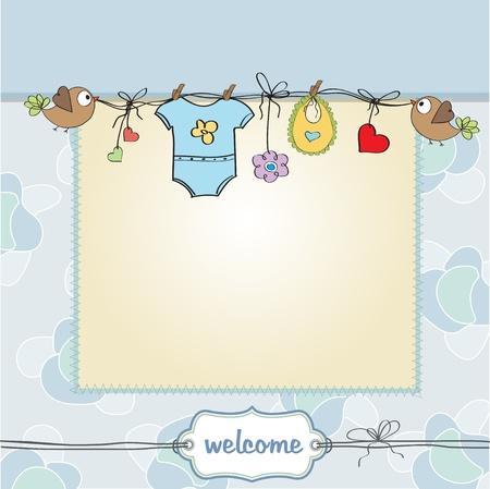 stylish boy: baby boy shower card