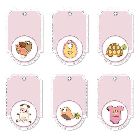 cartoon animals labels set Stock Vector - 12897186