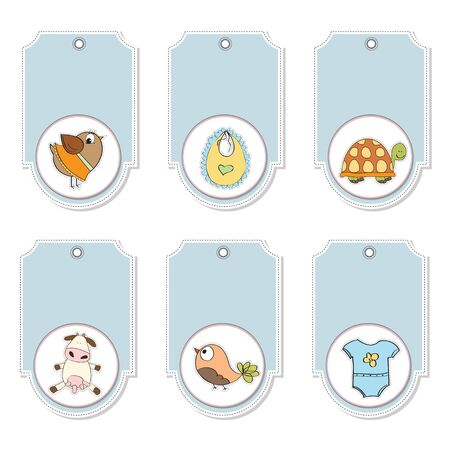 cartoon animals labels set Stock Vector - 12897187