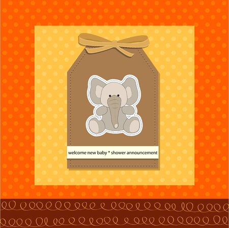 nestling: romantic baby girl announcement card