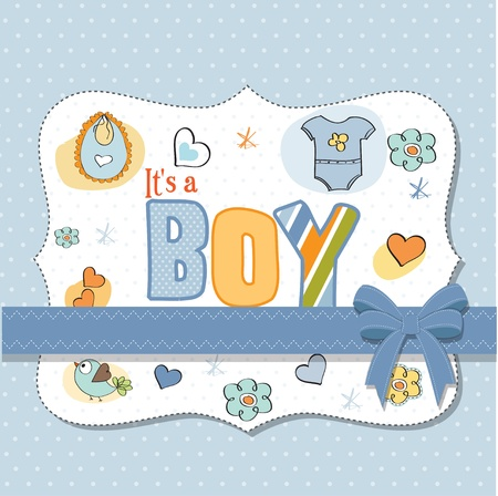 new baby boy shower card Stock Vector - 13005781