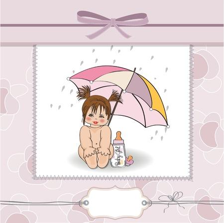 ducha de la niña tarjetas