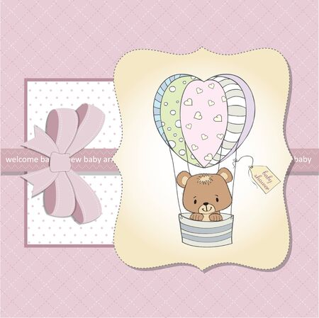 new baby girl shower card Stock Vector - 13124436