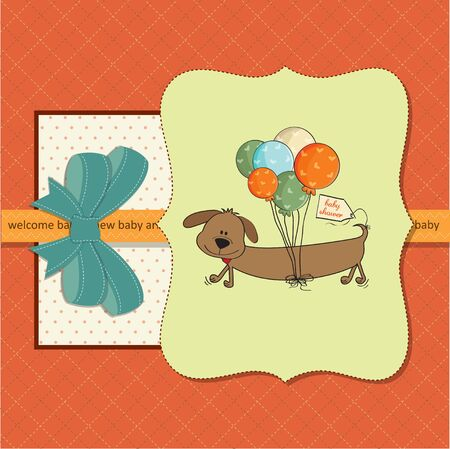 nestling: new baby  shower card