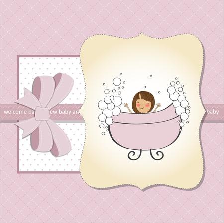 batch: new baby girl shower card Illustration