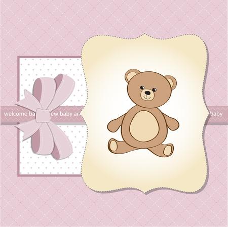 new baby girl shower card Vector