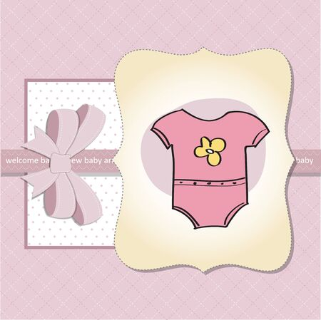 new baby girl shower card Vector
