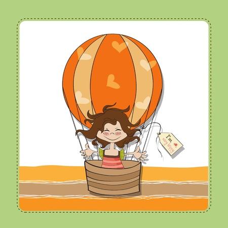 happy little girl Stock Vector - 13124443