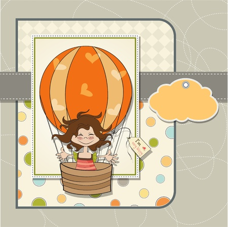 happy little girl Stock Vector - 13124452