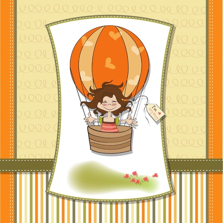 happy little girl Stock Vector - 13124451