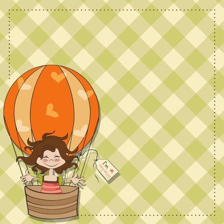naturally: happy little girl Illustration