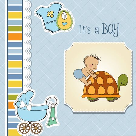 new baby boy shower card Stock Vector - 13229653
