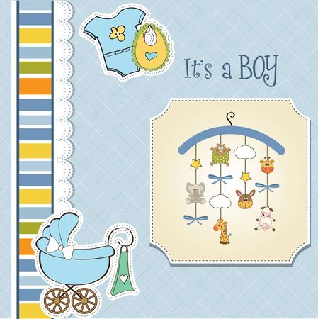 special event: baby boy shower card