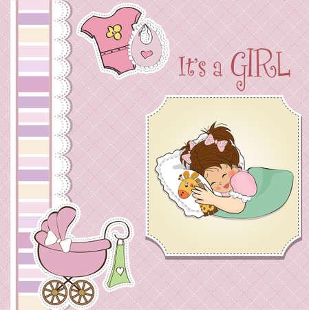 felicitaciones cumpleaÑos: ducha de la niña tarjetas