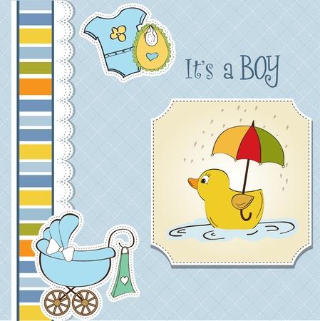 nice background: baby boy shower card