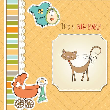 baby  shower card Stock Vector - 13229671