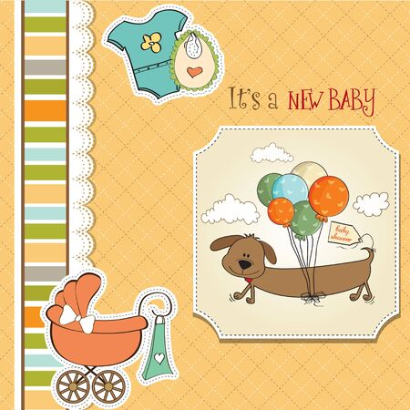 baby shower card Stock Vector - 13229701