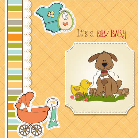 baby  shower card Stock Vector - 13229662