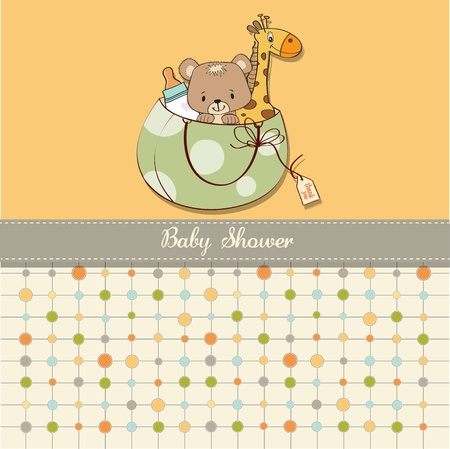 shower: baby shower card with toys