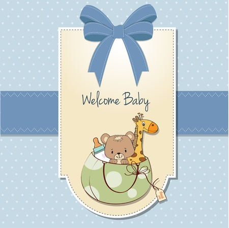 baby shower card with toys Stock Vector - 13229642