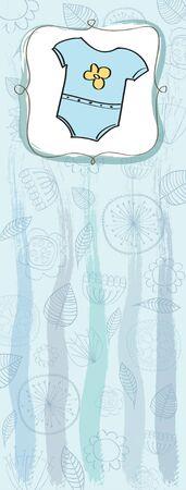 new baby boy shower card Stock Vector - 13320172