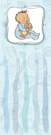 new baby boy shower card Stock Vector - 13320178